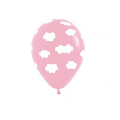 Balão nuvens rosa