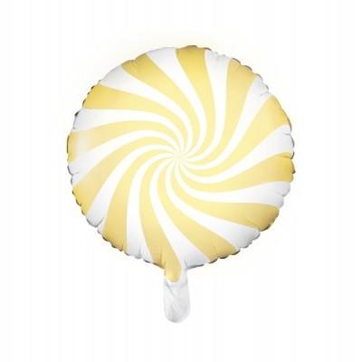 Balão candy amarelo 45cm
