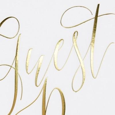 Livro de Honra Letras ouro