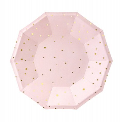 Pratos little star rosa bebé