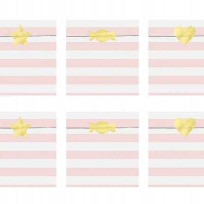 6 sacos de oferta rosa pastel