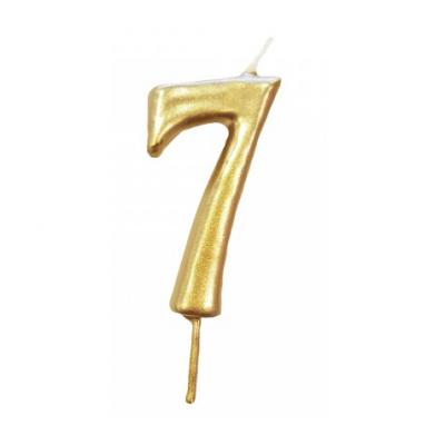 Vela Nº Ouro -6cm