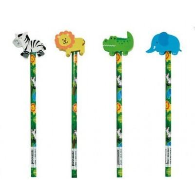 lápis animais da selva
