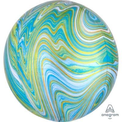 balão orbz marmoreado verde