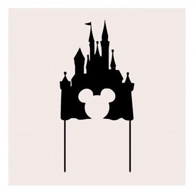 Topo de bolo Castelo Disney