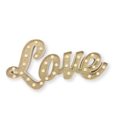 Love glitter luminoso