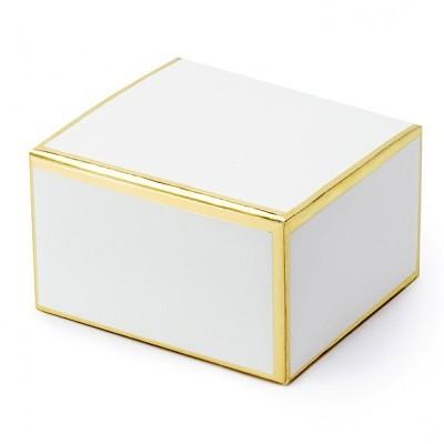 10 Caixas brinde brancas e bordo dourado