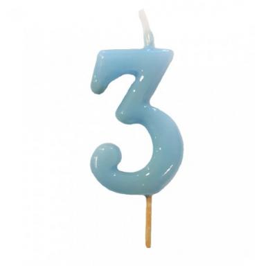 Vela Nº Azul bebé -6cm