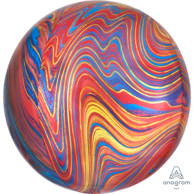 Balão orbz marmoreado