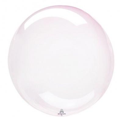 Balão CRYSTAL CLEARZ rosa bebé