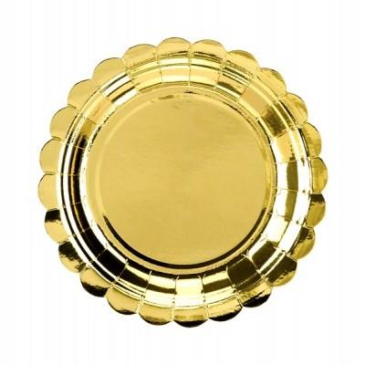 6 Pratos redondos ouro