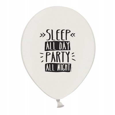 "Balão latex ""Sleep all day party all night"""