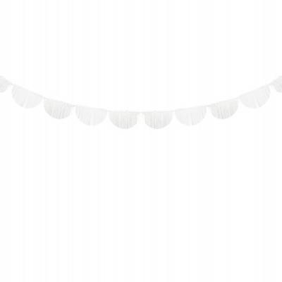 Grinalda franjas de papel branco