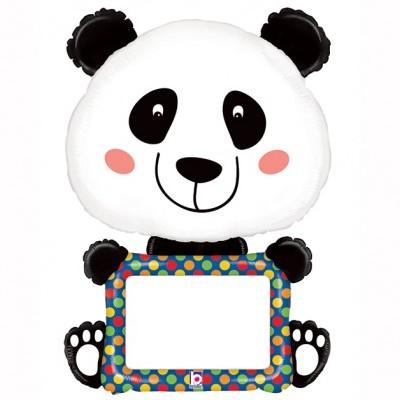 Balão supershape panda personalizavel