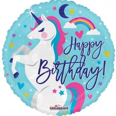 Balão unicórnio happy birthday
