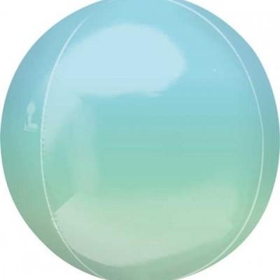 Balão orbz ombre azul verde 38cm
