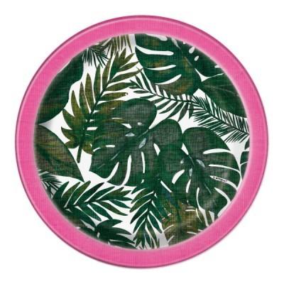 8 Pratos tropical luau