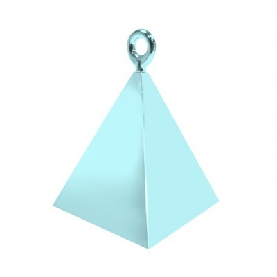 Peso pirâmide para balões azul bebé
