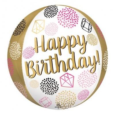 Balão orbz happy birthday