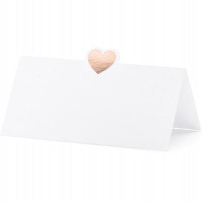 10 marcadores coração rosegold