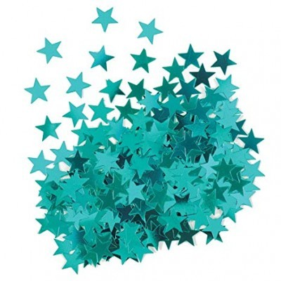 confetti estrelas azul