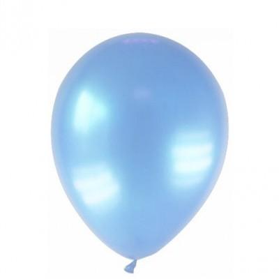 Balão azul bebé metalizado