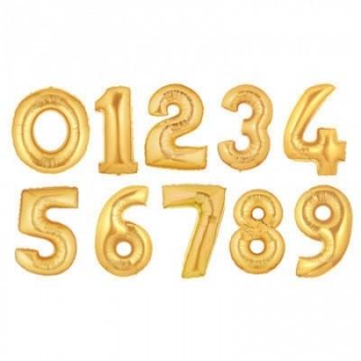 """Números 40"""" ouro velho"""