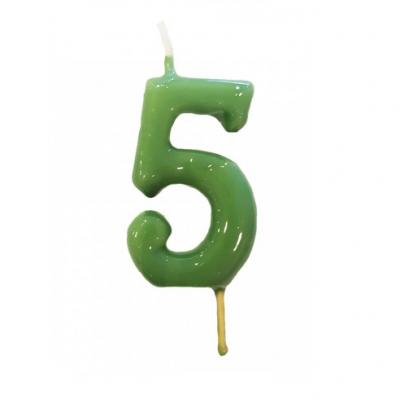 Vela Nº Verde seco -6cm