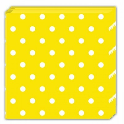 20 Guardanapos amarelo bolas