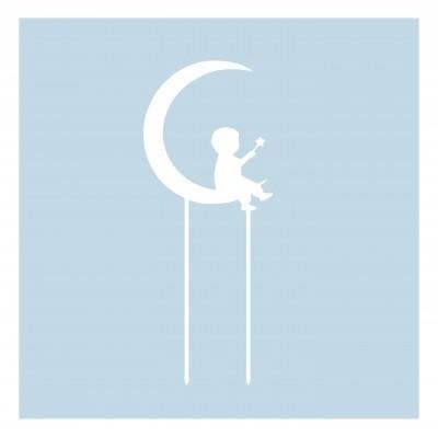 Topo de bolo menino Lua