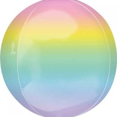 Balão orbz ombre rainbow 38cm