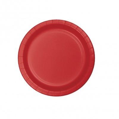 20 pratos Vermelho 18cm