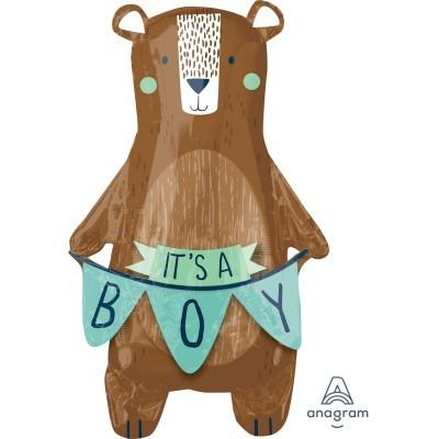 Balão foil urso it´s a boy
