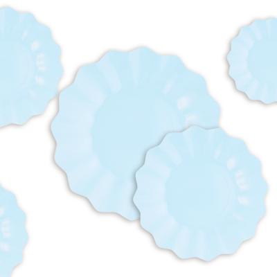 8 pratos azul