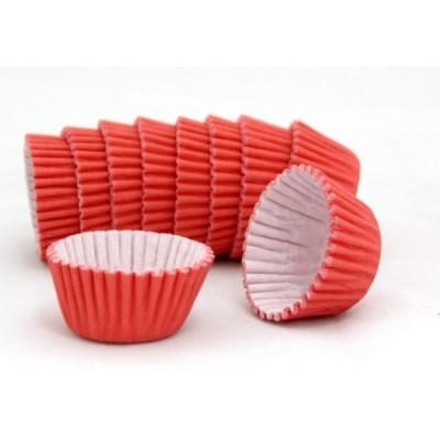 Formas cupcake vermelhas x100