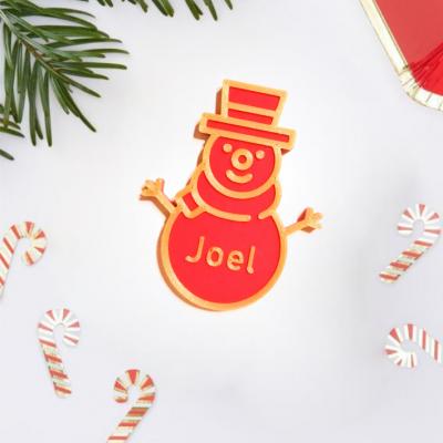 Marcador de lugar Boneco de neve Natal personalizado