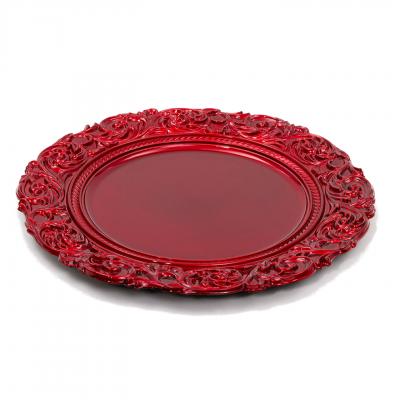 Prato marcador glitter red