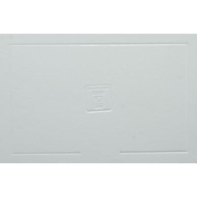 Disco rectangular  branco elegante (vários tamanhos)