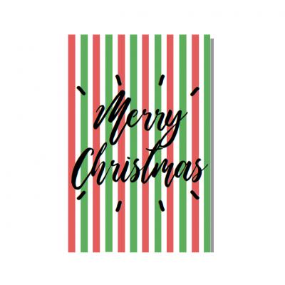 """Postal """"Merry Christmas"""""""
