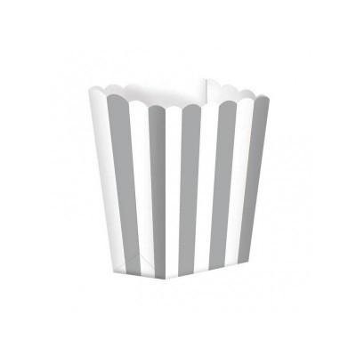 Caixas de pipocas prata