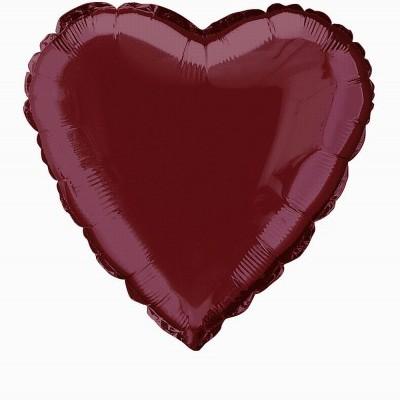 Balão foil coração Bordeaux