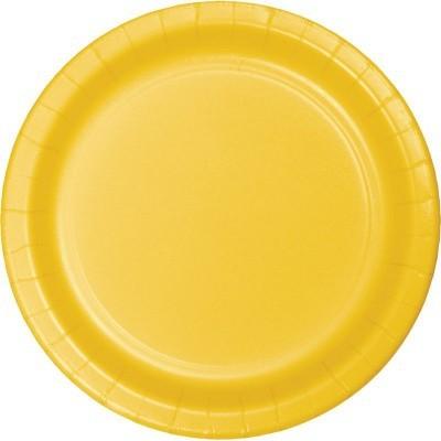 16 pratos amarelo 23cm