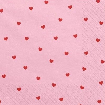 Guardanapos corações vermelhos