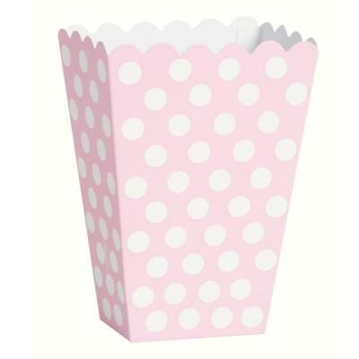 Caixas de pipocas rosa bebé bolas