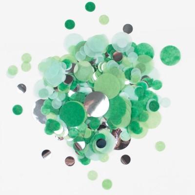 Confettis verde e prata