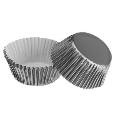 Formas cupcake prata x24
