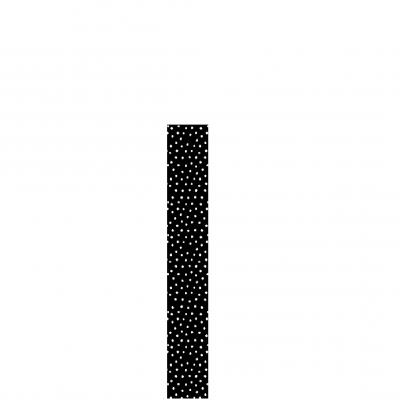 1x Rolo papel embrulho preto bolas