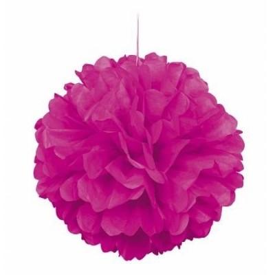 1 x Pompom Rosa fushia