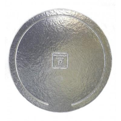 Disco redondo prata elegante 34cm