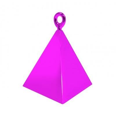 Peso pirâmide para balões rosa fushia